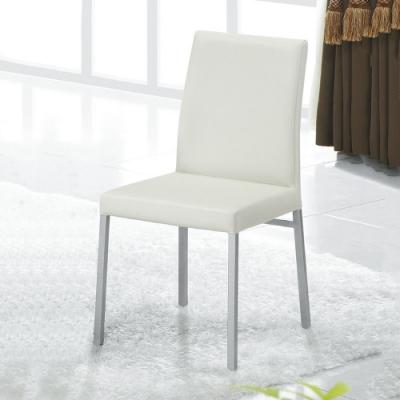 MUNA 溫妮白色皮餐椅(單只) 48.5X41X86cm