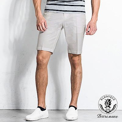 BARONECE 率性休閒棉料短褲(151641-10)