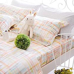 OLIVIA FANTA 橘粉 標準單人床包枕套兩件組 天絲™萊賽爾 台灣製