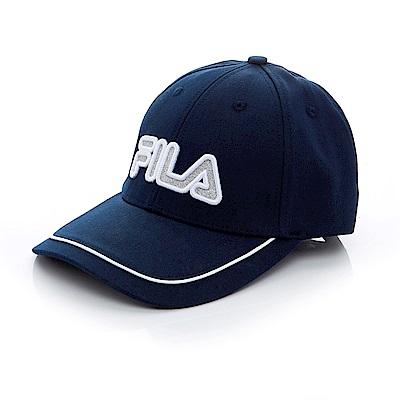 FILA 時尚 LOGO 帽-丈青 HTT-1103-BK