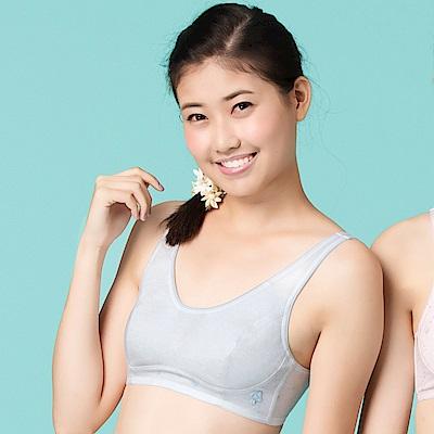 嬪婷-學生 AA70-85罩杯少女內衣(灰)柔軟棉材質- 成長第二階段