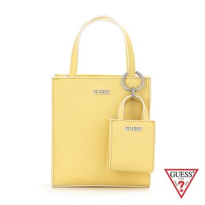 GUESS-女包-簡約糖果色LOGO子母托特包-黃 原價2890