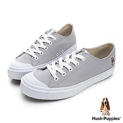 Hush Puppies 韓系粉彩咖啡紗餅乾鞋-淺灰