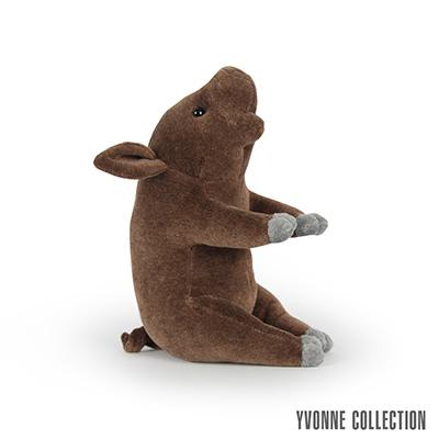 Yvonne Collection 豬豬造型小玩偶-深咖啡