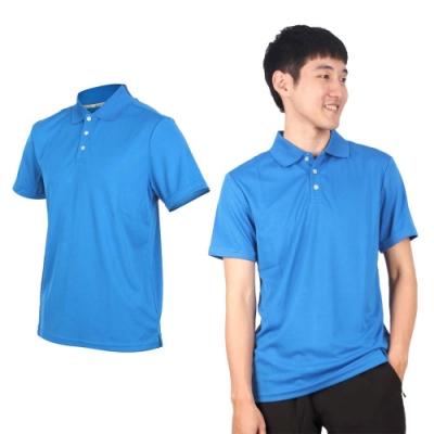 HODARLA 男女星際吸濕排汗短袖POLO衫-慢跑 台灣製 短袖上衣 高爾夫 立領 3151506 亮藍