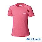 Columbia 哥倫比亞 女童-UPF50快排短袖上衣-粉紅 UAG00060PK