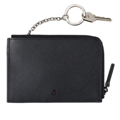 MONDAINE 瑞士國鐵 國徽系列5卡拉鍊零錢包 (附可拆式鑰匙圈) –黑
