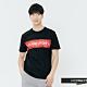 H:CONNECT 韓國品牌 男裝-撞色標語圓領T-shirt-黑(快) product thumbnail 1