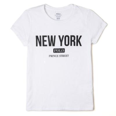 Polo Ralph Lauren 經典印刷城市系列紐約短袖T恤(女)-白色