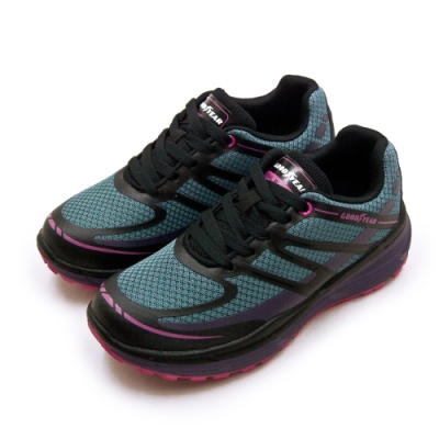 GOODYEAR 專業動能緩震慢跑鞋 藍黑紫 82797