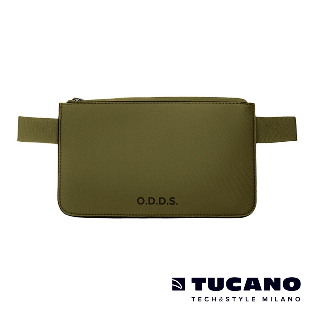 TUCANO X O.D.D.S. 潛水布防水防盜拉鍊式腰包-軍綠