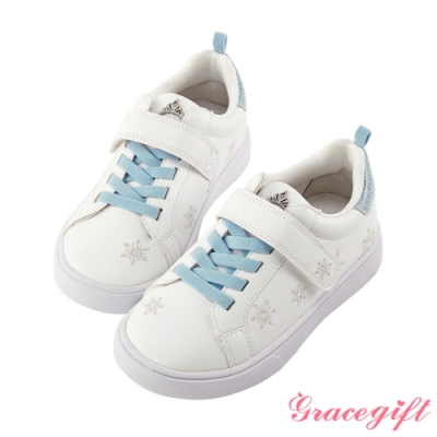Disney collection by gracegift冰雪奇緣雪花刺繡童鞋 藍