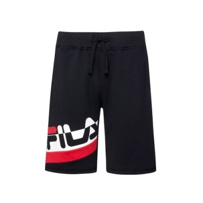 FILA #日潮攻略首部曲 針織短褲-黑色 1SHU-1415-BK