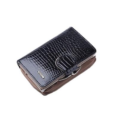 玩皮工坊-真皮漆面牛皮8卡位女士皮夾錢夾中短夾女夾LH579