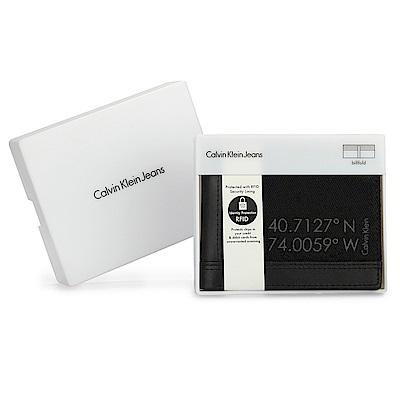 [時時樂限定]Calvin Klein 經典單寧短夾