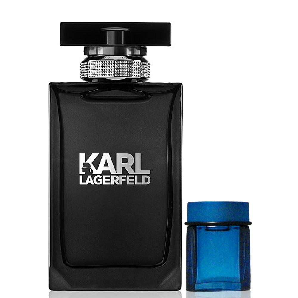 Karl Lagerfeld 卡爾同名時尚男性淡香水 50ml 搭贈隨機4ml小香水