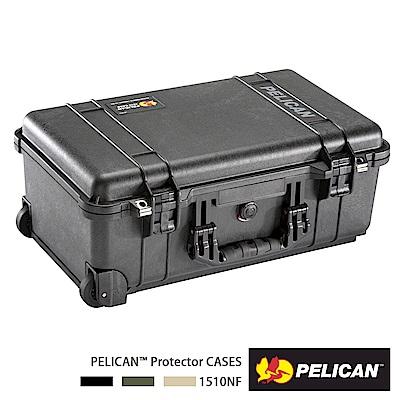 美國 PELICAN 1510 輪座拉桿氣密箱-空箱(黑)