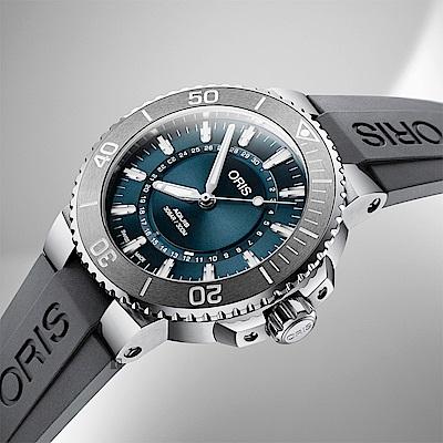 ORIS 豪利時 生命之源限量錶-藍x灰/43.5mm