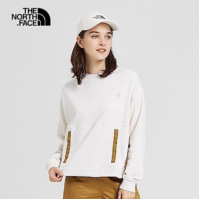 The North Face北面女款米白色吸濕排汗針織上衣|3VTK0ZX