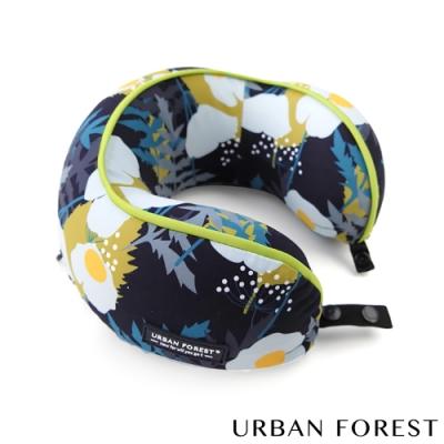 URBAN FOREST都市之森 花卷-兒童頸枕/午睡枕 綠絨蒿