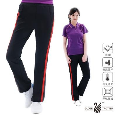 【遊遍天下】兩件組_MIT女款排汗POLO衫 +休閒長褲