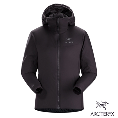 Arcteryx 始祖鳥 女 Atom LT 防潑水 化纖保暖連帽外套 狄馬褐