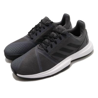 adidas 網球鞋 CourtJam Bounce 男鞋 愛迪達 三線 輕量 透氣 耐磨 避震 灰 黑 FV2764