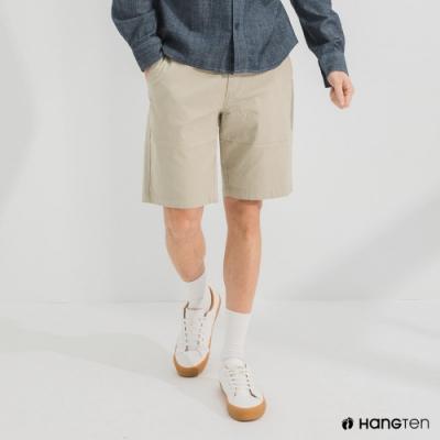Hang Ten-男裝-REGULAR FIT經典彈性短褲-卡其色