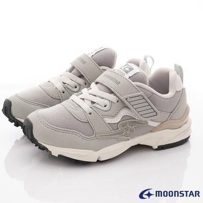 日本月星頂級童鞋 四大機能運動鞋款 NI717灰(中大童段)