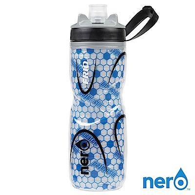 NERO FRIO 自行車雙層保冷水壺 620ml / 藍色