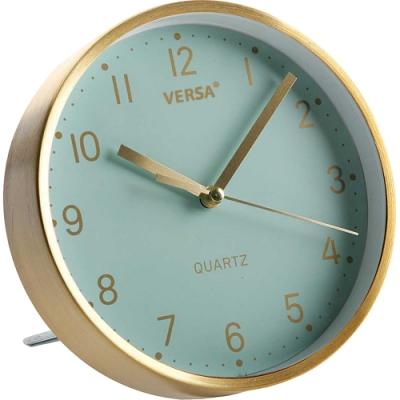 《VERSA》桌面時鐘(綠金16cm)