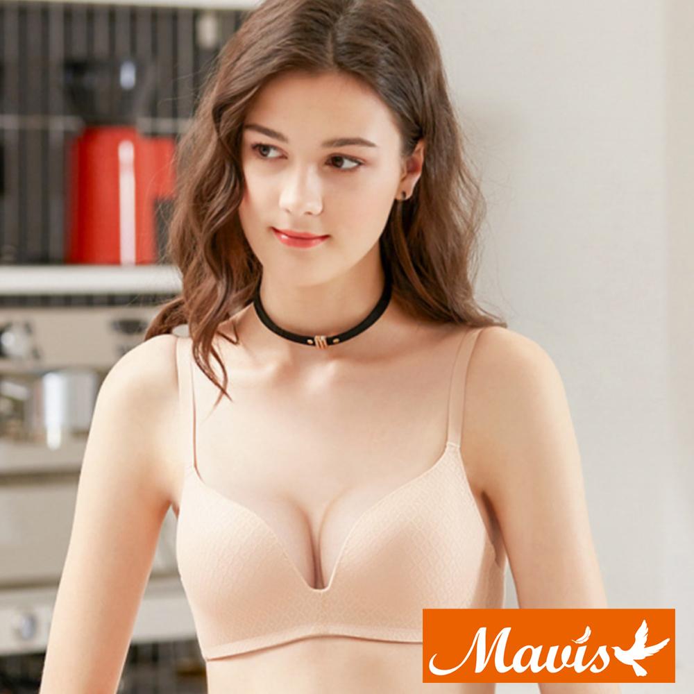 Mavis瑪薇絲-幾何蕾絲蜂巢無鋼圈內衣(百搭膚)