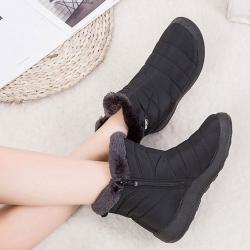 LN 極簡約防潑水保暖休閒雪靴-3色