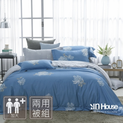 IN-HOUSE-白花河岸-500織紗匹馬棉兩用被床包組(加大)