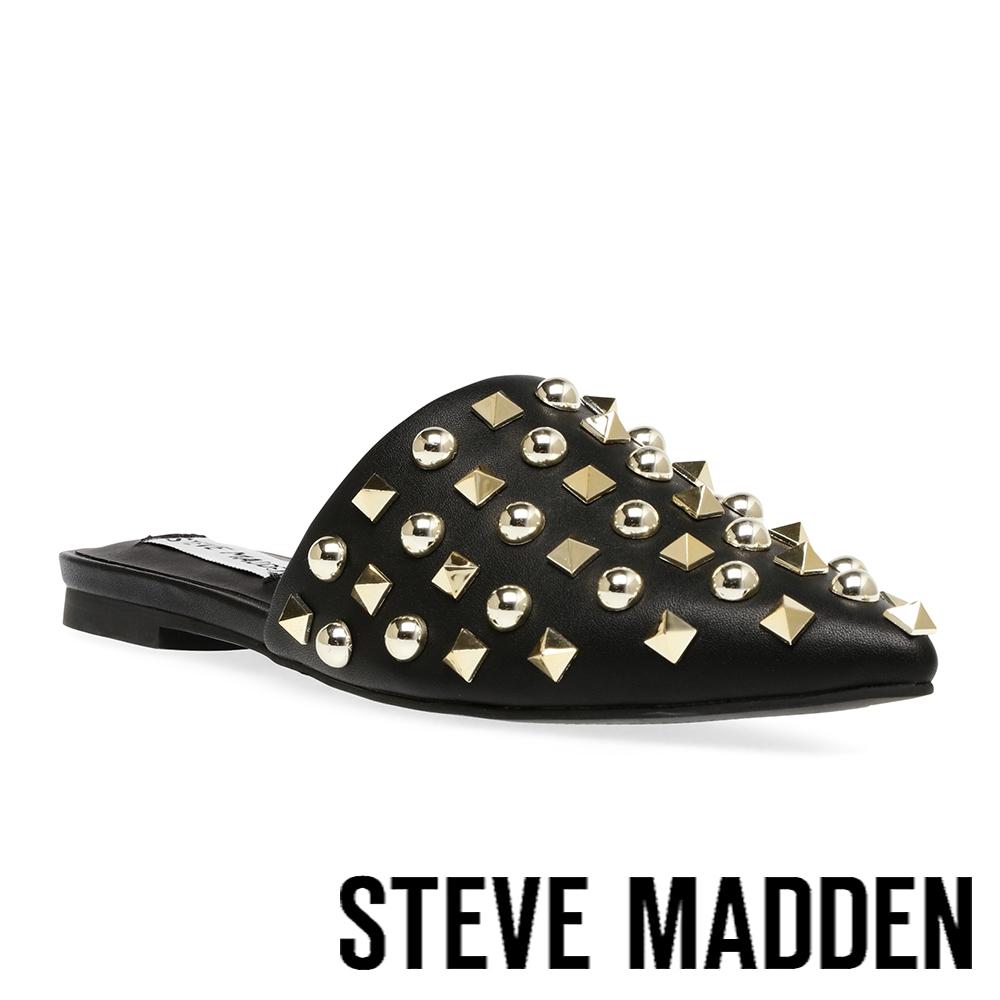 STEVE MADDEN-FAREWAY 尖頭鉚釘穆勒拖鞋-黑色