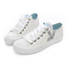 PLAYBOY 潮流簡約帆布餅乾鞋-白-Y521211