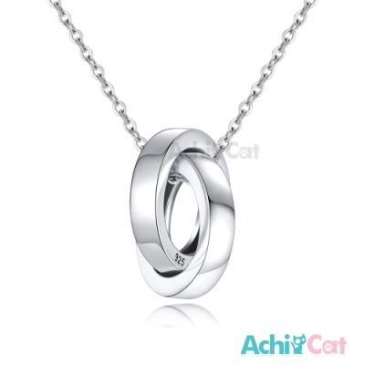 AchiCat情侶項鍊925純銀項鍊幸福相依禮物推薦/單鍊