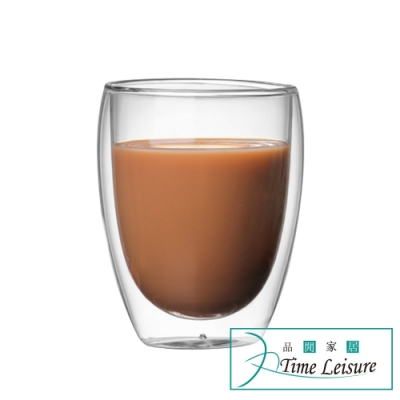 Time Leisure 雙層隔熱玻璃咖啡杯280ml(4入組)