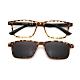 【 Z·ZOOM 】老花眼鏡 磁吸太陽眼鏡系列 知性矩形細框款(豹紋色) product thumbnail 1