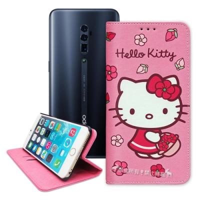 三麗鷗授權 Hello Kitty OPPO Reno 10倍變焦 櫻花吊繩款彩繪側掀皮套