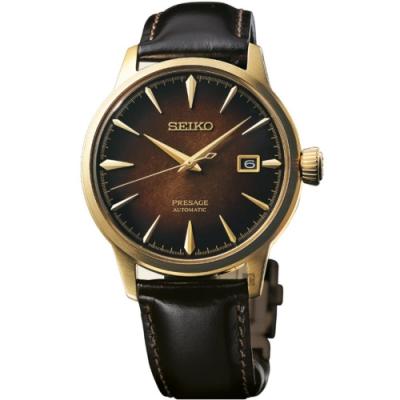 (無卡分期6期)SEIKO 精工 Presage 調酒系列 古典雞尾酒機械錶(SRPD36J1)