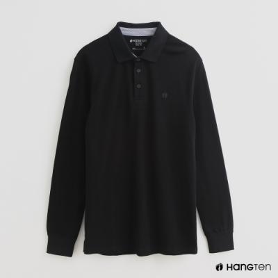 Hang Ten - 男裝 - 經典素色POLO衫 - 黑