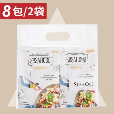 芝初 貪食胡麻拌麵組-原味*2袋(4包/袋)