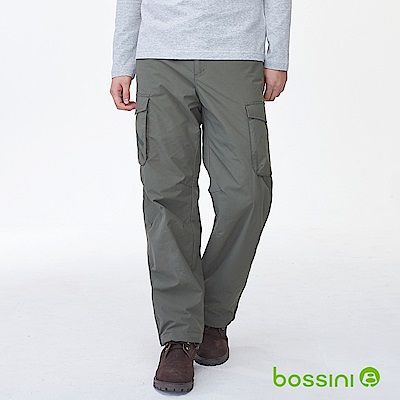 bossini男裝-高效熱能雪褲森綠