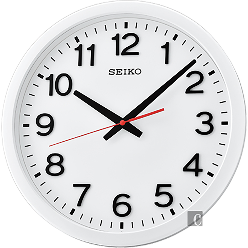 SEIKO精工 極簡風格大數字掛鐘(QXA732W)-35cm