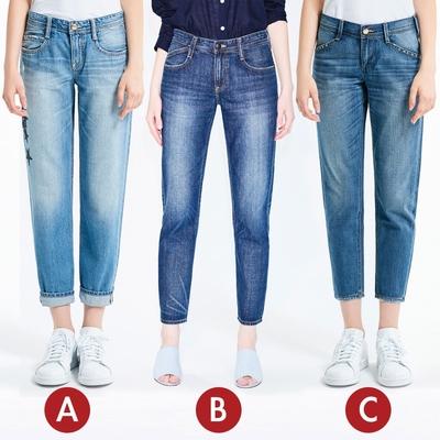 [時時樂限定]BRAPPERS 女款 八分反摺褲(三款選)