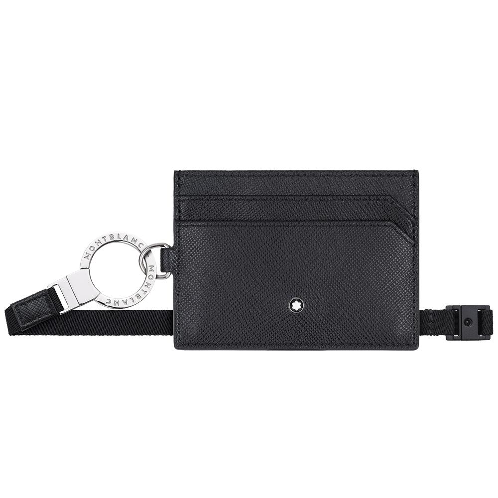 萬寶龍十字紋識別證件套(附背帶)-黑