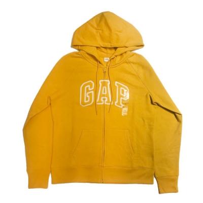GAP 經典LOGO連帽外套(女)-黃色