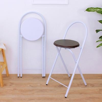 頂堅 鋼管高背(木製椅座)折疊椅 吧台椅 高腳椅 餐椅 摺疊椅 折合椅 三色