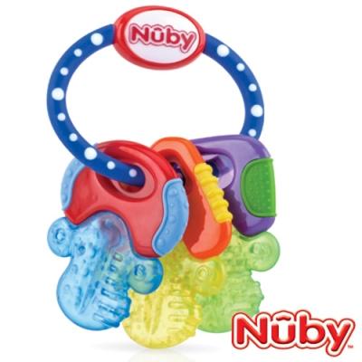 滿千送百超贈點!【美國 Nuby】冰膠固齒玩具-鑰匙造型
